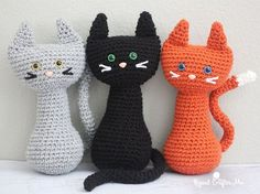 Free crochet pattern: Crochet Cat amigurumi by Repeat Crafter Me Crochet Cat Pattern, Cute Crochet, Crochet Crafts, Crochet Dolls, Crochet Yarn, Easy Crochet, Crochet Projects, Crochet Patterns, Diy Projects