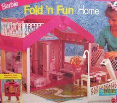 1992  BARBIE FOLD N FUN PLAY HOUSE