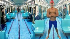 En lo más fffres.co: Transforman los vagones de un metro de Taiwán en una piscina para los Juegos Universitarios 2017: A simple… #Exterior