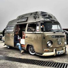 "vanlife-clothing:  "" T2a hightop van. Sweeeet duuude  #vanlife_clothing #vanlife #vandals #campervan #camper #adventure #homeiswhereyouparkit #van #vanlove #travel #wanderlust #backpacker #vanagonlife #vanfan #roadtrip #traveling #explore..."