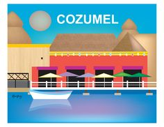 Cozumel wall art is available in an array of finishes, materials, and sizes, this retro inspired wall art will make Cozumel feel close to your heart with its bright color palette and unique design. Yo