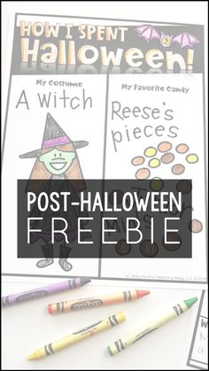 Use this FREE printable in your elementary classroom the day after Halloween. This activity provides the teacher with four differentiated worksheets that teachers can use post-Halloween so that students can describe how they spent October 31st. This activity can be used with students who do and do not celebrate the holiday. #Halloween #free #freebie #printable #worksheet #kindergarten #preschool #firstgrade #secondgrade #thirdgrade #fourthgrade #fifthgrade #homeschool #costumes #fun #teach #ELA