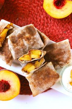A handheld peach pie?! Yes, please!  You must try these Peach Pie Egg Rolls..guaranteed to be a crowd pleaser! | C it Nutritionally