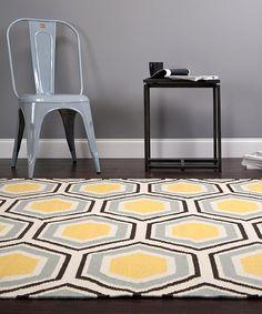 Jill Rosenwald's rug for Surya  - The Honeycomb rug in a room! #inspiredbysurya