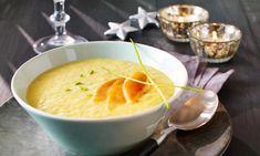 Pastinakensuppe mit karamellisierter Birne Rezept: Cremige Suppe mit feiner Orangen-Note und Birne als Vorspeise - Eins von 7.000 leckeren, gelingsicheren Rezepten von Dr. Oetker!