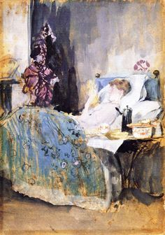 James McNeill Whistler - Maud Reading in Bed, 1884
