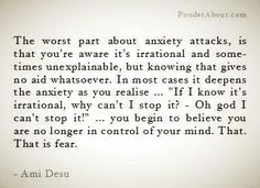 Exactly! I've been dealing with this since I was 15; 13 years and I'm just figuring out how to conquer the fear!