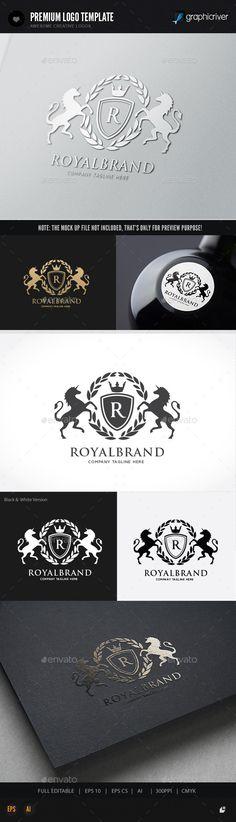 Royal Brand Logo Template #design #logo Download: http://graphicriver.net/item/royal-brand-/11936173?ref=ksioks