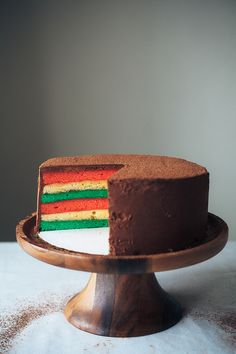 OMG, to find this recipe is a gift from the Italian Gods / Goddesses!!! (Yeh is my new hero!!!)...  'Italian Rainbow Cookie Cake', recipe...