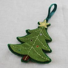 Pattern Felt Embroidered Christmas Ornaments