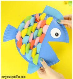 paper plate fish - ocean kid craft - crafts for kids- kid crafts - acraftylife.com #preschool