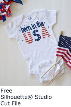 Make this patriotic onesie - free cut file available at createandbabble.com