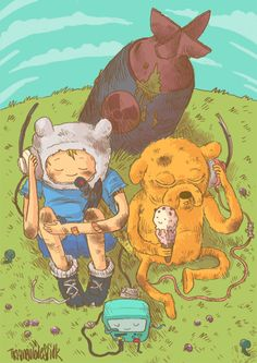 Mushroom war. The dark side of adventure time