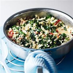 Winter green risotto with crunchy bacon Recipe | delicious. Magazine free recipes