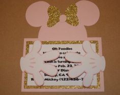 Minnie Mouse Invitations by KoalaKraftsShop on Etsy Mini Mouse 1st Birthday, Mini Mouse Baby Shower, Second Birthday Ideas, Girl 2nd Birthday, Mickey Mouse Birthday, 4th Birthday Parties, Minnie Cake, Minnie Mouse Pink, Mickey Mouse And Friends
