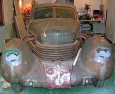 My Husband, Phillip, Purchased this extremely rare 1936 'Super Charged' Cord Automobile as shown here - pre-restoration - and over the course of three years, and with the help and expertise of Phillip's father - Robert 'Pop' Goble - Restored 'Gretchen' to Her Orginal 'Art Deco' glory, complete with her original green paint color.  We invite you to view the 'during and after' photos by just clicking on the 'before photo' - enjoy!