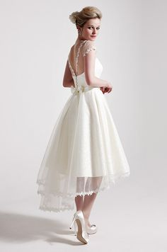 Sassi Holford, 2013 Tea length wedding dress #Wedding #dress #dresses  http://www.ukbride.co.uk/wedding-ideas/wedding-dresses