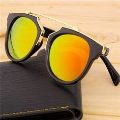 Golden Red New 2016 Spring Summer Sunglasses 100% Brand New and High Quality. 400 UV Protection. Super Trendy! Accessories Sunglasses