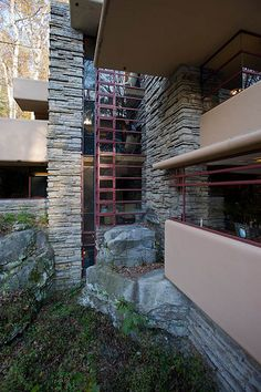I love these little windows that open out.  Fallingwater, Mill Run, PA - Frank Lloyd Wright