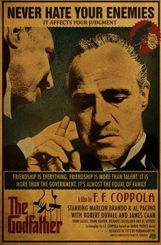 The Godfather (El Padrino), Francis Ford Coppola, The Godfather Poster, Godfather Part 1, The Godfather Wallpaper, Godfather Quotes, Godfather Movie, Classic Movie Posters, Movie Poster Art, Best Movie Posters, James Caan Godfather