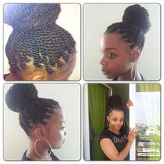 Sengalese Twists in a bun