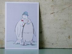 Postcard for gay wedding wedding anniversary by PinkCloudStuff