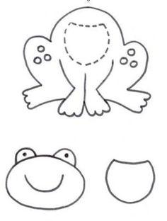 Pattern for cute frog Wal Artesanal o site do feltro Quiet Book Templates, Felt Templates, Quiet Book Patterns, Felt Patterns, Applique Patterns, Applique Quilts, Craft Patterns, Applique Designs, Motifs D'appliques