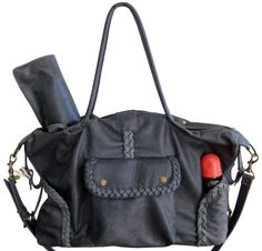 Not Rational Kelly Leather Diaper Bag - Grey Distressed (As Seen in Daily Candy!) Zoom Price: $690