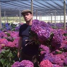 Hunt Littlefield getting a private tour of  Lassen Ranch's nursery.