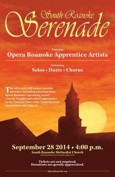 Church opera roanoke apprentice artists will perform solos duets