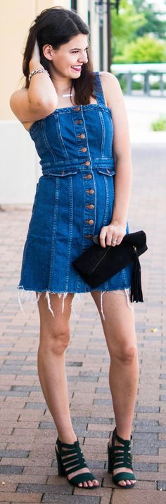 33ae6b6182 The Cutest Little Denim Dress From Madewell