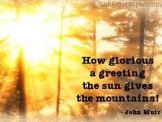 """""""How glorious a greeting the sun gives the mountains!"""" - John Muir ••• Happy Solstice!"""