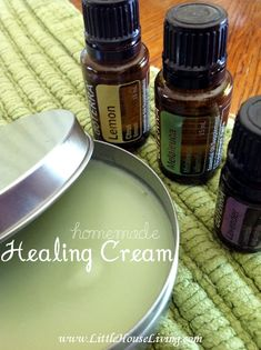 Homemade Healing Salve (similar to a first aid cream). Perfect for all those summer bumps and bruises!