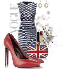 """Red Pumps..."" by kerrystong on Polyvore"