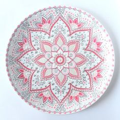 Decorative plate for hanging Ceramic wall decor Gift from Dot Art Painting, Mandala Painting, Ceramic Painting, Mandala Art, Pottery Painting Designs, Paint Designs, Plate Wall Decor, Plates On Wall, Thali Decoration Ideas