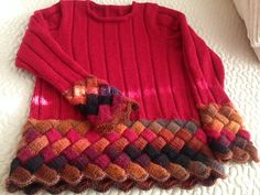 Ravelry: greenwayknitter's Entrelac Bordered Sweater Project with Clair