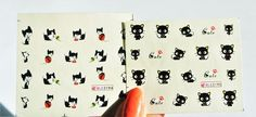 You will get a sheet of 2 Sheets Cute Black Cat water Nail Decal,Chococat Nail Design. Sop up any remaining water with a tissue & either wait for 1-2 minutes to set or blast for 30 seconds with a hairdryer. | eBay!