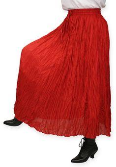 Hestia Broomstick Skirt - Red