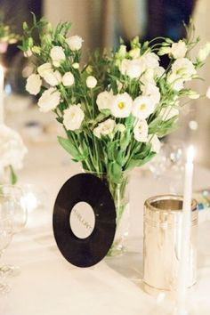 Music-themed Table Decor, Italian Wedding by Adriano Mazzocchetti