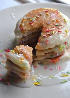 Healthy Gluten Free + Vegan Funfetti Party Pancakes