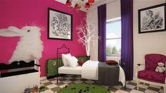 Alice in Wonderland Themed Room | Mad Alice in Wonderland theme bedroom