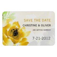 Yellow Rose Wedding Magnet