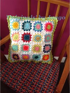 Starburst crocheted cushion, made for Cafe Indie in Scunthorpe. Made to order £15