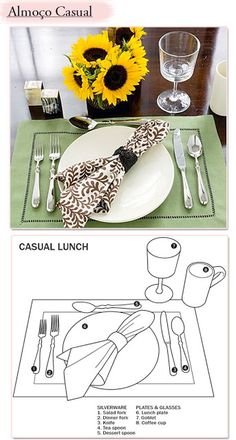 Dinning Etiquette, Table Setting Etiquette, Lunch Table Settings, Afghan Food Recipes, Etiquette And Manners, Table Setting Inspiration, Table Manners, Table Set Up, Deco Table