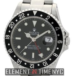 #Rolex GMT-Master 16700 Stainless Steel Black Dial A Series