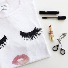 lips & lashes.