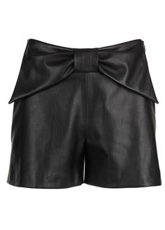 Short nœud en cuir Noir by CLAUDIE PIERLOT