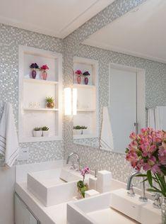 Home Decoration Inspiration Small Bathrooms Best Ideas Inspiration Wc, Regal Design, Glass Bathroom, Shelf Design, Bathroom Interior Design, Beautiful Bathrooms, Small Bathrooms, Sweet Home, House Design