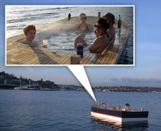 Hot Tub Boat.
