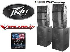 PEAVEY Versarray 16000 Watt Line Array System – SoundWarehouse Line, Audio, How To Make, Fishing Line